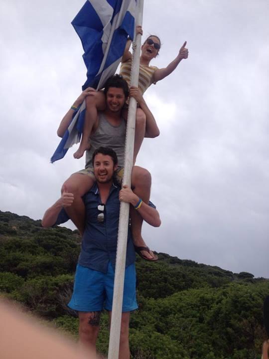 Paros Boat Cruise Pole